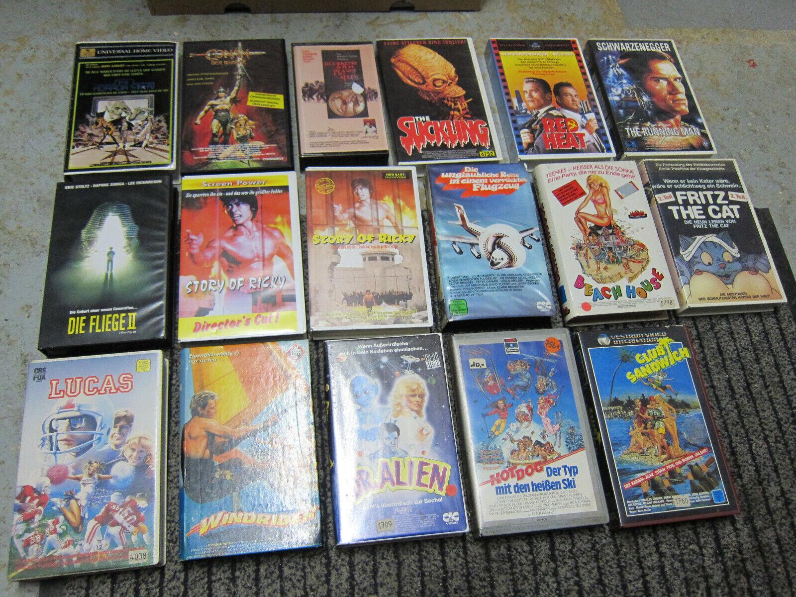 VHS Paket Sammlung Horror Teen Komödie Glasbox Videothek Erstauflage Rarität