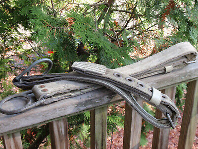 2 Vintage Miller Linemans Pole Tree Climbing Belt Harness Safety With Ring