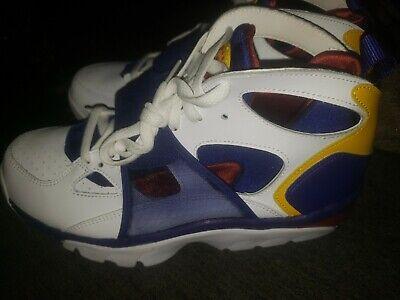 Nike Air Trainer Huarache Training Shoes sz 14 White Blue Red Yellow 679083 107