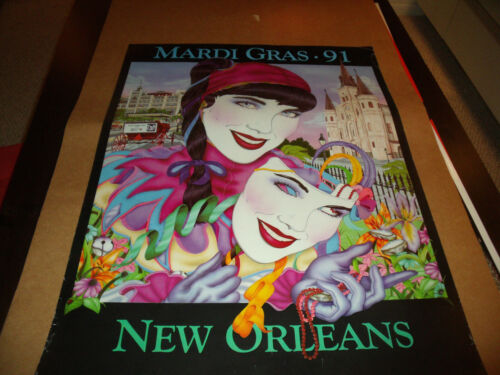 """MARDI GRAS  25""""x33"""" Commercial Poster 1991"""