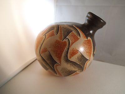 Vintage Miguel Angel Calero Nicaragua Art Pottery Birds Jug