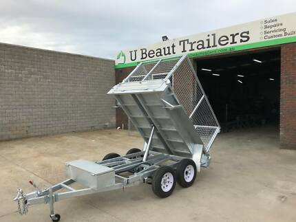 8x5 Hydraulic Tandem Tipper with  Cage Galvanised 2000kg ATM Seaford Frankston Area Preview