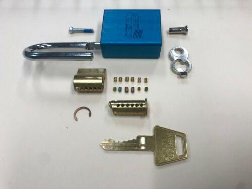 GET THREE AMERICAN LOCK A1105BLU SIX PIN EXTRA SECURITY PADLOCK KEYED ALIKE