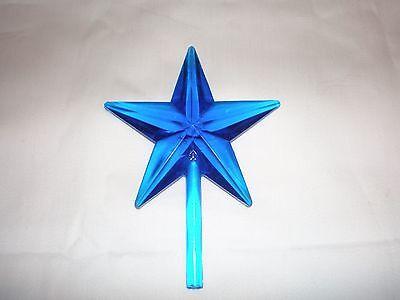 Vintage Ceramic Christmas Tree lights, bulbs Classic LG Star Aqua ()