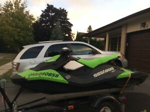 2016 Sea doo Spark with trailer