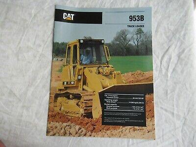 Cat Caterpillar 953b Track Loader Brochure