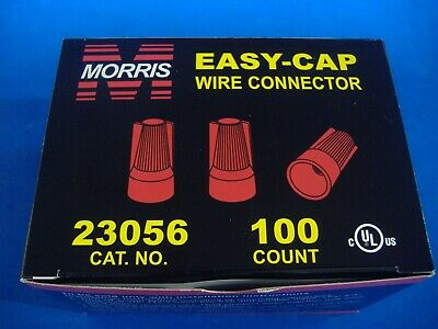 Lot Of 100 Red Easy-cap Wire Connector Conical Connectors Twist-on Nuts