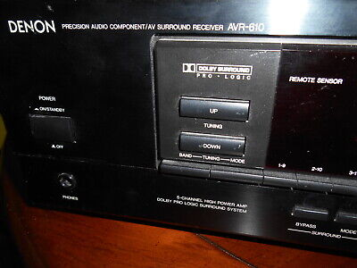 DENON AVR 610 STEREO RECEIVER  SURROUND SOUND DOLBY PRO LOGIC WORKS GREAT.!, used for sale  Shipping to India