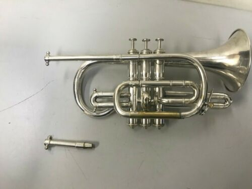 Antique J. Higham Silver Cornet
