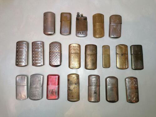 Lots de 21 briquets anciens états neufs divers marques