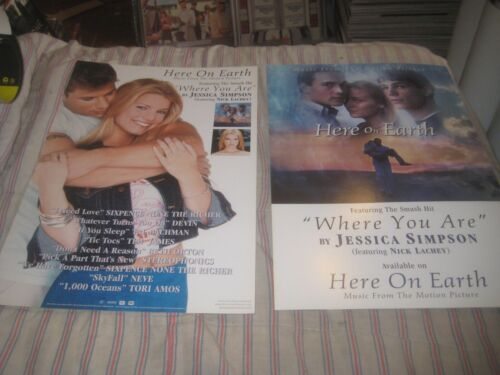 JESSICA SIMPSON-HERE ON EARTH-1 POSTER FLAT-2 SIDED-12X18 INCHES-NMINT-RARE!!