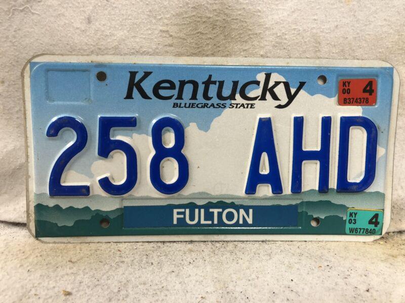 2000 Kentucky License Plate (RARE FULTON COUNTY)