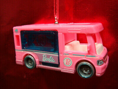 * NEW * BARBIE DREAM HOUSE RV MOTORHOME CAMPER PINK CHRISTMAS ORNAMENT