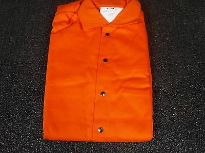 New Flame Resistant Coverall Orange Cotton S 5wyr4p