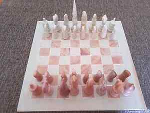 Old Vintage Hand Carved Stone African Chess Set , Complete set. Barnsley Lake Macquarie Area Preview