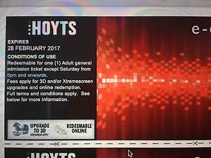 HOYTS MOVIE VOUCHERS Asap Burwood Burwood Area Preview