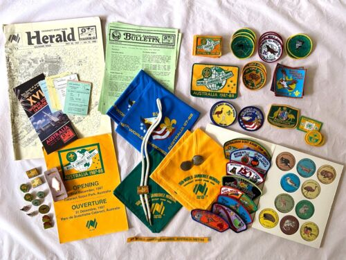 Huge lot of Boy Scout World Jamboree Items 1987-1988 Australia with VHS Tape