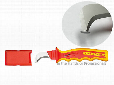 Gedore Tools 2661489 Lineman Curve Skinning Knife Hooked Blade Insulated VDE4527