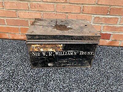 Sir W.R.Williams Trust - Vintage Black Metal Deed Box