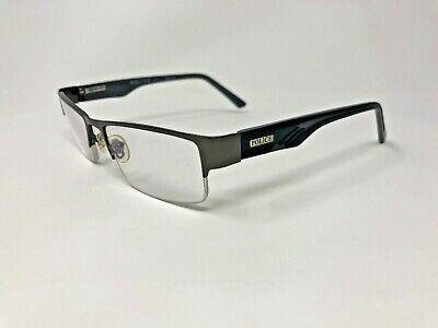 POLICE P60063 Eyeglasses Frame Italy Half Rimless 51-18-136 Silver/Black (Police Rimless Glasses)