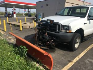 Ford f250 4x4 for sale with snow plow and dumpster low mileage