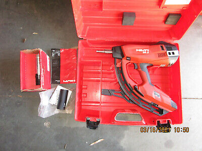 Hilti Gx3 Gas Operated Actuated Nail Gun Fastening Tool W Case Combo Kit 975