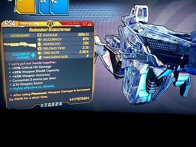M10 Level 57 Brainstormer x14 Amara Cast 250 Phasecast 250%xbox bl3 Mayhem 10