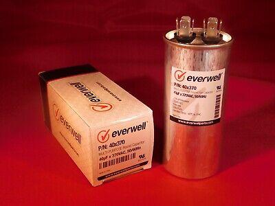 Run Cap 40 Mfd 370vac Electric Motor Run Oil Filled Capacitor Uf Hvac
