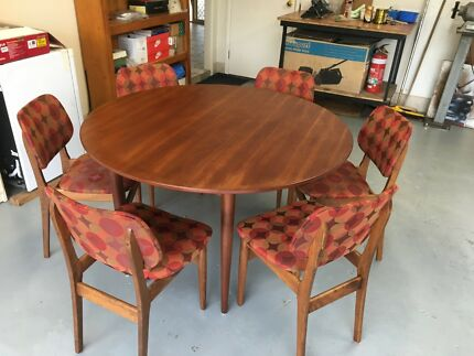 Mid Century Retro Teak Dining Table U0026 6 Chairs