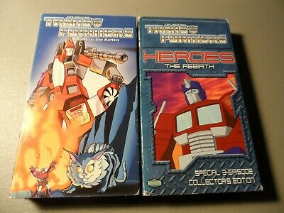 Transformers 2 VHS Lot Volume 12 Size Matters / Heroes the Rebirth