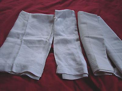 """Vintage Huck Towels LOT 4  Damask Assorted ~18x24"""" Cotton Antique"""