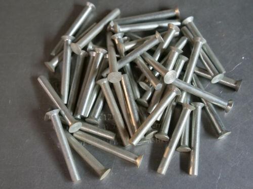 Solid Rivet 3/16 Dia x 1 1/2 Length Steel Coated Countersunk Head 10ea
