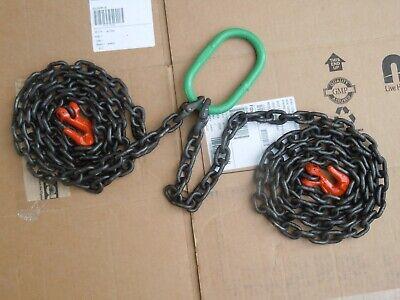 2 Leg Chain Sling 7 X 932 Alloy Steel G80 Grab Hooks Lifting Riggingmachine