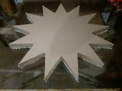 15 Inch Diameter - 1 Thick - 13 Point Star - Cnc Precision Cut Clear Acrylic