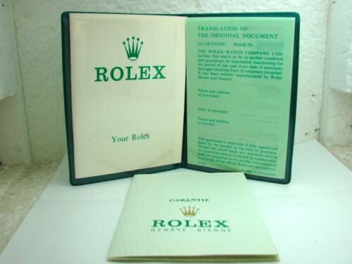 RARE ROLEX 1972-1973 WARRANTY CERTIFICATE GUARANTEE PAPERS VINTAGE