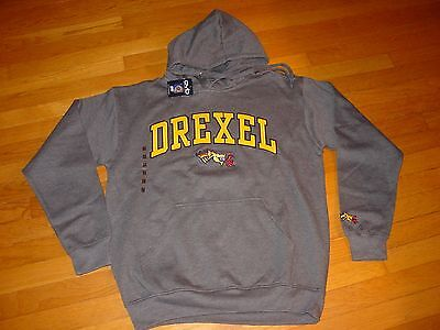 Du Drexel University  Dragons Hooded Embroidered Sweatshirt New Tag Sz     Small