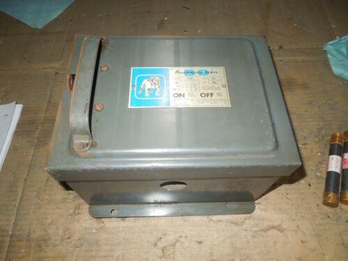 Ite Bp352 60a 3ph 3w 600v Ac Fusible Cover Operated Bus Plug Used E-ok