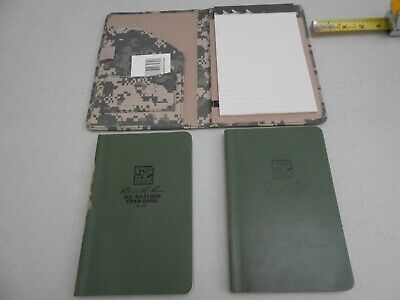 New Set Rite In The Rain Acu Notebook And 2 Preowned Green Note Pads Weather