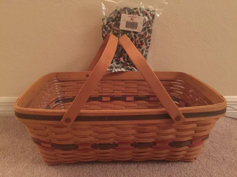 Longaberger NEW Yuletide Treasures Basket & Protector Set Liner Has SOLD
