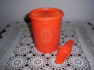 Retro Vintage Tupperware Canister Container Press Seal Orange10.0 East Cannington Canning Area Preview