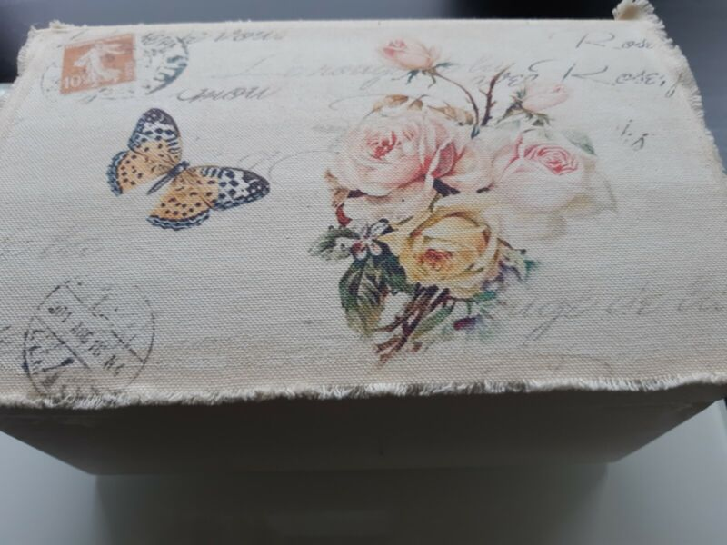 Vintage Style Small Wooden Chest - Brand New