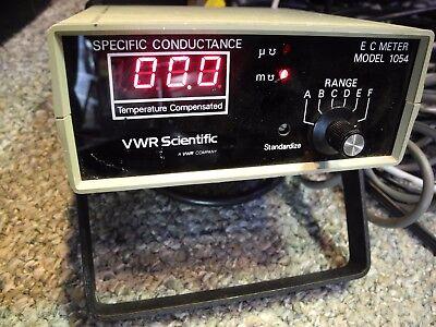 Vwr Scientific Model 1054 Ec Meter Specific Conductance