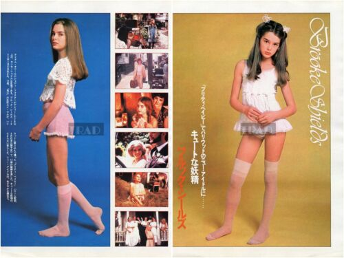 BROOKE SHIELDS Pretty Baby 1978 Japan Picture Clipping 2-SHEETS ti/r