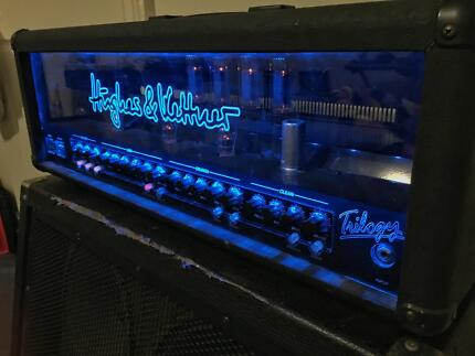 Hughes and Kettner Trilogy 100w all Tube half stack guitar amp