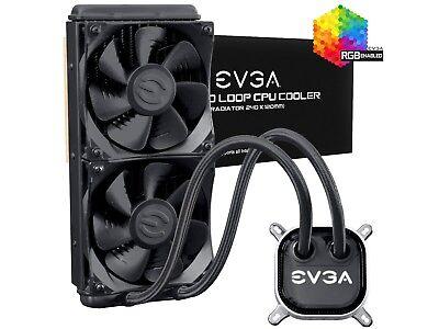 EVGA CLC 240 Liquid / Water CPU Cooler, 240mm Radiator, RGB LED, 400-HY-CL24-V1