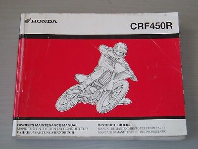 HONDA CRF450R WORKSHOP MANUAL, PART # 69MEN620