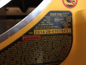 DEWALT PORTABLE TABLE SAW