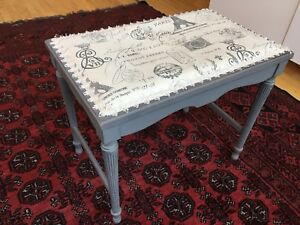 French country shabby chic antique bench