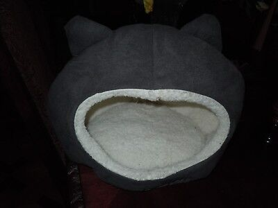 Luxury Cat Kitten Small Dog Puppy Pet Brown Bed House Cave With Ears