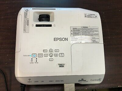 Epson PowerLite 965H HDMI 3LCD Projector with Remote